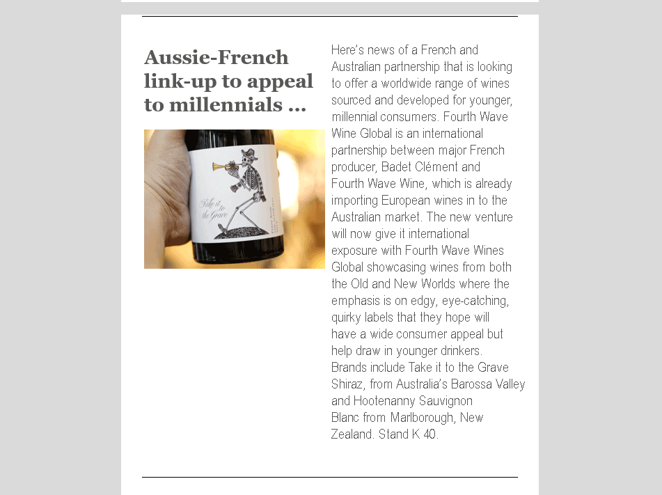 Aussie-French link-up to appeal to millennials ...