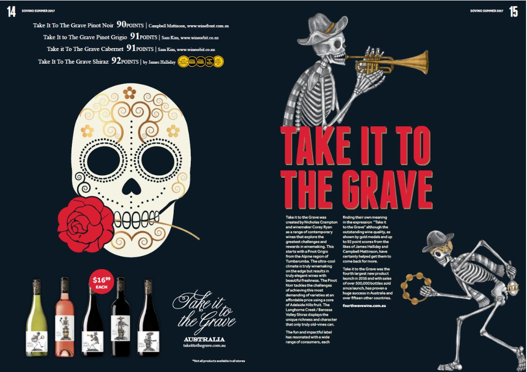 Take It To The Grave was the fourth largest new product launch in 2016... Pages 13 & 14