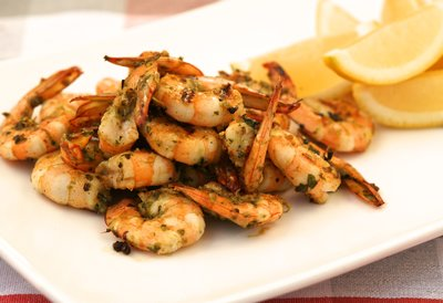 Barbecued Coriander & Pepper Prawns